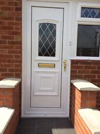 White UPVC Double Glazed Door
