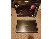 "Laptop MSI GT780 17.3"" i5 processor Nvidia GTX 560M French backlit keyboard"