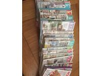 Ideal homes magazines, bundle of 20