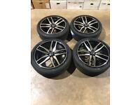 """Brand new set of 22"""" Axe alloy wheels and tyres Range Rover"""