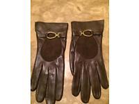 Loewe Brown Leather Gloves