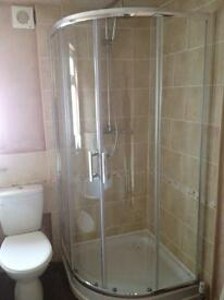 Shower cubical & tray - used