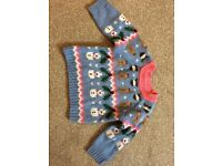 Girls Christmas jumper age 12-18 months