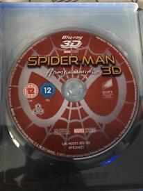 Spider-man Homecoming 3D Blu-Ray - Read description
