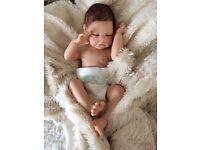 Reborn baby girl doll Megan with half torso
