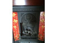 Cast Iron Gas Fire with Mahogany Surround
