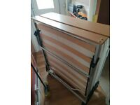 Fold away single bed for sale. Like new