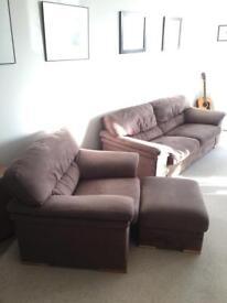 Sofa set and foot stool