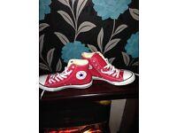 Red Converse Hi Tops