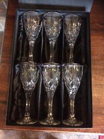 6 Royal Doulton Crystal Goblets