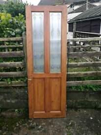 Solid wood part glass doors x3