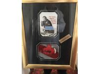 Signed sir Henry cooper picture and glove limited edition
