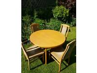 "Extendable dining table and chairs "" EXCELLENT CONDITION """
