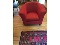 M&S Red tub chair