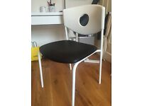 Ikea office chair. Nearly new. Black and white.