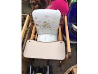High chair and booster chair