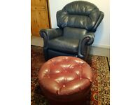 Leather recliner single chair (near St Ives)