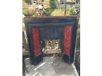 Beautiful cast iron reclaimed Victorian Fire Surround (inc. tiles) - £95 ONO
