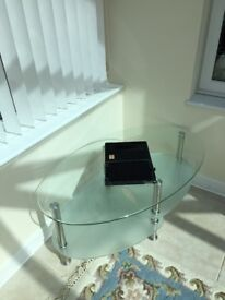 Glass Coffee Table/TV Table