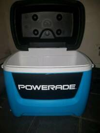 Powerade cooler box with wheels
