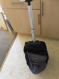 Cabin friendly rucksack with long handle