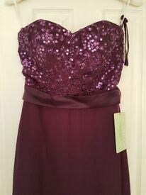 Bridesmaid/Prom Dress - Size 8 - Purple