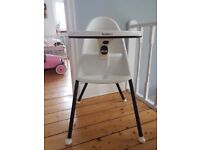 Baby Bjorn High Chair For Sale, White No Straps - £50