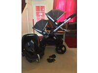 iCandy Peach 3 Truffle Double Pram Pushchair CAN POST