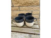 Sainsbury's home stoneware mugs x4