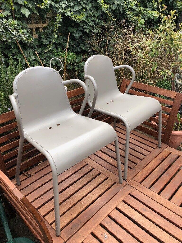 2x ikea tunholmen chair in grey camden town