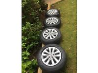 Volkswagen Transporter T6 highline alloys and tyres x4