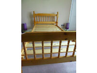 Pine Single Bed in Good Condition