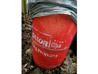 Butane gas bottle full