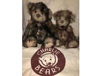 Charlie Bears collectible Rhubarb and Crumble