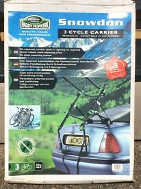 Snowden 3 cycle carrier premium hi mount rear