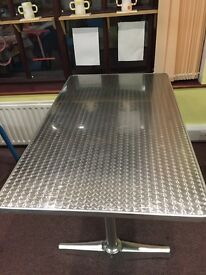 Aluminium Tables - Various Sizes , Suitable for Inside and Outside Use