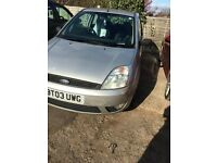 2003 ford fiesta 1.4 silver has 12 month mot from the 5/4/17 few minor dents