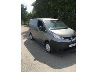 60 2011 Nissan nv200 factory 5seat crew van with twin side loading doors