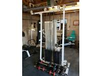 Commercial gym tricep & biceps weights cable machine