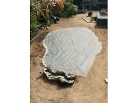 Large butyl rubber pond liner 3.9m x 5.4m and 1.5m preformed stream