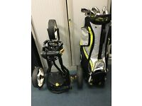 Golf bag, golf trolley and Irons