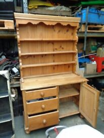 old pine Dresser and bookcase