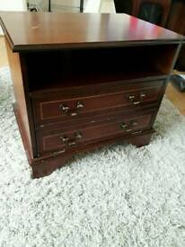 Dark wooden unit/ table with storage