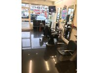 barber shop and chairs for sale