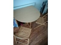 Convertible IKEA kitchen table with four chairs - barely used, like brand new!
