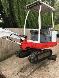 mini digger, maintain to the highest of standards