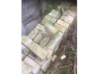 Pitched buff walling stone bricks