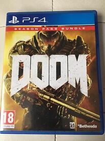 PS4 DOOM with season pass