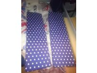 Nice hand and home made cuscin blue night with STARS for TV bench LACK Ikea