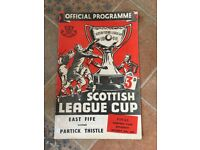 1954 Scottish League Cup Final programme in excellent condition.
